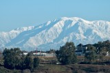 San Gabriel Mountains from Bolsa Chica in snow