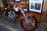 Motorcycle on display at The Grove