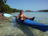 Kayaking around Providenciales
