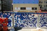 Sculpture Wall Vodka Ads, News Stand & Road Construction