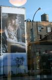French Connection Billboard - Jane Restaurant Window Reflection