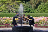 Three Frolicking Muses - Conservatory Chrysanthemum Garden
