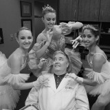 Garet, Lauren and Sabrina with Dr Williams