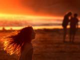Flaming hair...