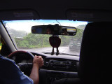 Elias, our daring driver, deftly delivers us to our destination in the driving rain