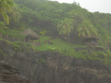 I wish we would have climbed up to those huts