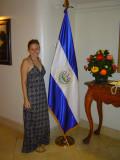Photo Op with the El Salvadorian flag