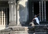 Inside and outside Angkor Wat