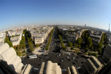 The view from the top of the Arc-de-Triomphe
