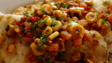 pan seared fish fillet with tomato corn salsa