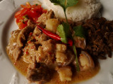 bicol express with laing sa gata