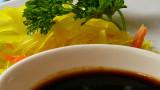 achara + peanut sauce