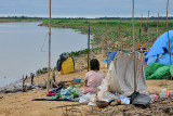 Chimani camp on the river near San Lorenzo de Moxos