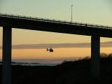 Search after Mia Desiree Tallund by Luftambulansetjenesten i - Helse Vest-Rongesund Bridge