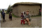 Mouzate avec les enfants Masaï