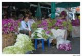 Marché aux fleurs Bangkok.