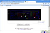 Google screen with Pac-Man game