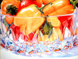 accepted  into juried Aquarious, framers award, peppers in crystal.jpg