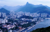 The beauty of Rio de Janeiro is undeniable, with the statue of Christ the Redeemer off in the distance atop Corcovado.