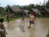 Mud volley, Vang Vieng