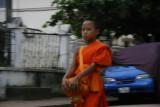 Monk collecting alms, Luang Prabang