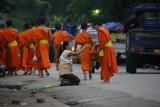 Monks collecting alms, Luang Prabang
