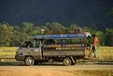 A songthaew (minibus)