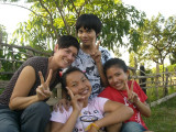 Chatted a lot with three funny Lao students