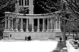 Millennium Park in winter, Chicago, Black and White