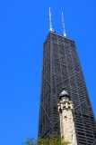 Old and the new - Hancock with the Water Tower, Chicago