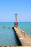 Piering into Lake Michigan, Chicago