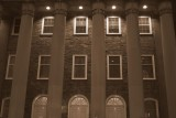 Old Main columns  - Sepia Series, Penn State University