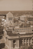 Indiana War Memorial and the Courthouse,Indianapolis