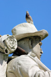 Limestone sculpture of a Sailor,Indianapolis