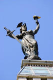 """38-foot high statue representing """"Victory atop the monument,Indianapolis"""