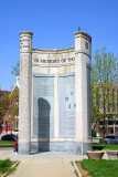 Campaigns and Nations monument - built 1998,Indianapolis