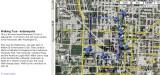 Indianapolis Walking Tour map,Indianapolis