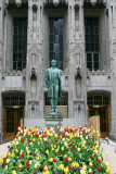 Nathan Hale and the tulips, Magnificent Mile, Chicago