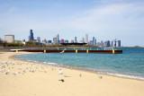 Chicago skyline from 31st Street Beach