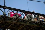 Tractor over bridge