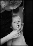 Brushing Algots teeth