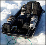 A perfect way of bringing your cameragear in snowy conditions.....(and it will save your back)