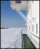 Going with the ferry from Waasa to Umeå (Sweden)