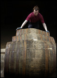 Loading barrels at Glenfarclas