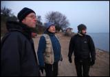 Werner Bollman, Jari Peltomäki and biology student  Dimitris Vavylis