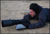 Werner Bollman using his Nikon on a beanbag