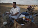 preparing coffe near Palmyra
