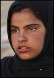 12-year old girl selling postcards at Palmyra