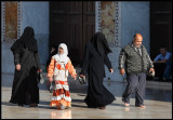 Family in Ummayad Mosque  - hard to see who is mother or sister....
