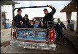 Boys on petrol-station on the road to Deir ez-Zor